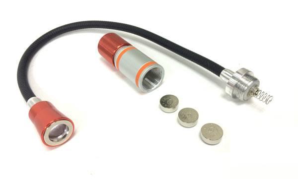 LED Flashlight with bendable snake tube