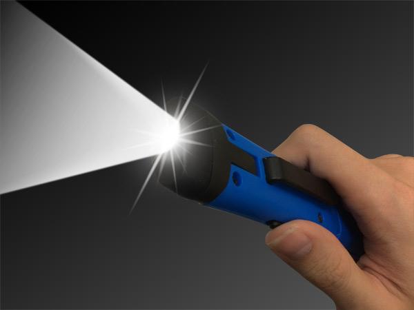 3W Rotatble Led flashlight torch lamp