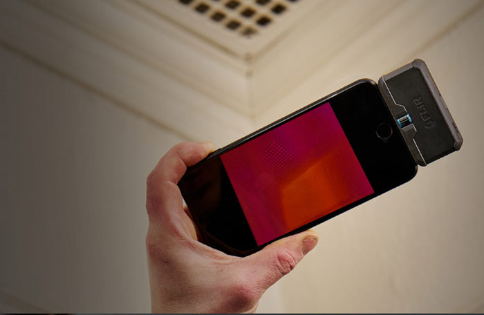 Flir One Pro LT紅外線熱成像儀應用實例