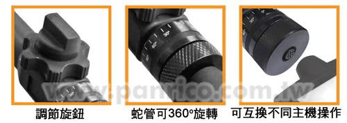 雙向轉彎式工業內視鏡鏡頭蛇管控制器