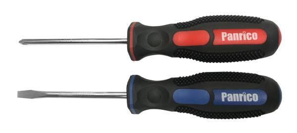 台灣製造膠柄螺絲起子組 2支組 十字一字螺絲批 螺絲刀 螺釘旋具膠柄