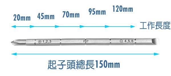 6合1伸縮式雙頭 6用螺絲起子 多用途螺絲起子 伸縮式螺絲起子 防滑起子 十字起字一字起子