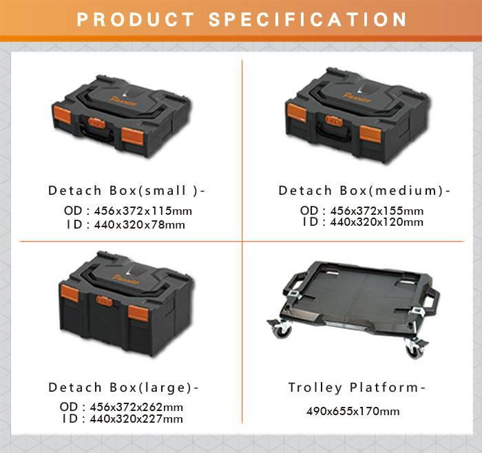 Technician Portable Tool Organizer Storage Box