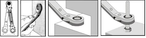 25度斜角梅花棘輪扳手 棘輪梅花扳手 齒輪扳手 活動式梅花棘輪扳手 雙向棘輪梅花扳手 台灣製造 6x8mm