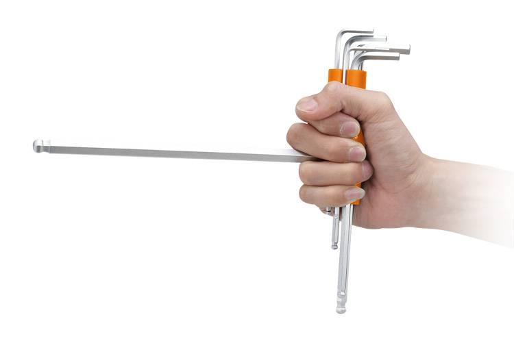 台灣製造8件式圓筒式球頭六角扳手組 圓筒式球型內六角扳手組 球形扳手組