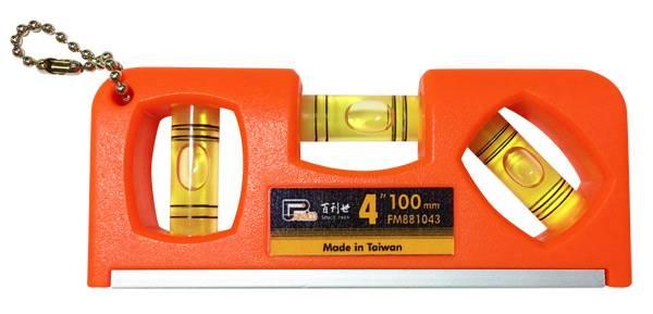 4吋迷你水平尺 螢光水泡水平儀 水準尺 水準器