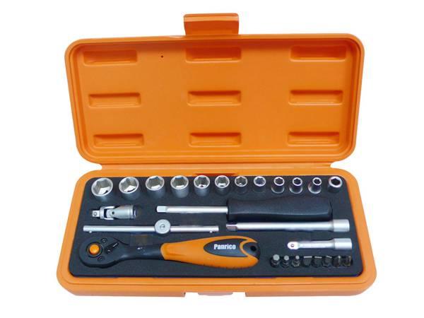 26件式套筒組 套筒套裝 含滑動扳桿及延長桿 家裝汽修套裝