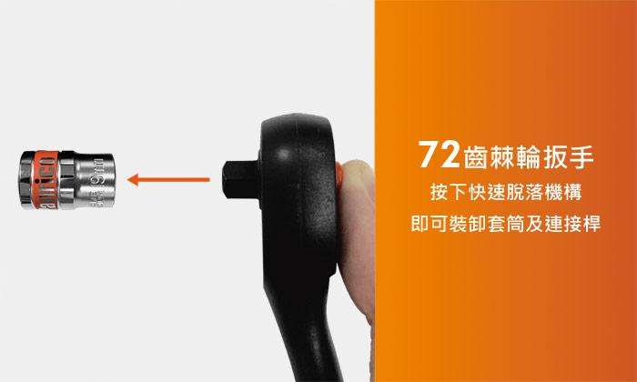台灣製造4分25件套筒扳手工具組