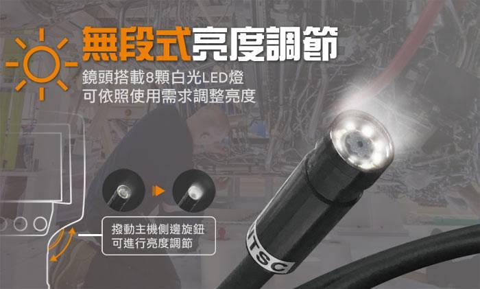 工業內視鏡 工業檢測內視鏡 管道內視鏡 管路內視鏡檢修探測器 12mmx1M 台灣製PST-2488-12mm