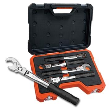 新冷媒R410A/R32专用4件式固定扭力棘轮扭力扳手 冷气铜管扭力扳手组 冷气冷冻空调铜管接头专用 台湾制造