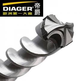 法國DIAGER 五溝十刃水泥鑽尾鑽頭 五溝鎚鑽鑽頭 可過鋼筋鑽頭