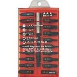 22件式專業起子頭 專業22件批頭扳手組 家電 模型玩具 機械產業適用專業螺絲起子頭