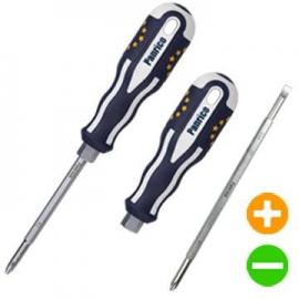 可替換式兩用螺絲起子 兩用螺絲批 可替換螺絲刀 十字螺絲起子 一字螺絲起子 二合一起子 二合一螺絲起子 歐盟旗幟造型起子 台製螺絲刀