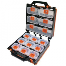 可拆式14件組合式零件盒零件收納箱 手工藝品材料收納盒 零件收納盒 零件工具盒工具箱 零件箱 透明收納盒 組合式收納 分類收納
