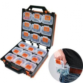 可拆式18件組合式零件盒零件收納箱 手工藝品材料收納盒 零件收納盒 零件工具盒工具箱 零件箱 透明收納盒 組合式收納 分類收納