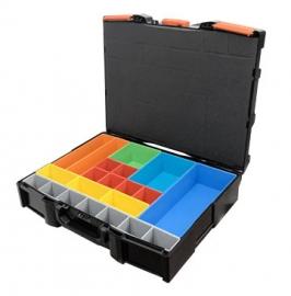 小堆疊工具箱 可堆疊系統工具箱 含15件零件置物格 台灣製造