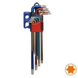 9pcs Extra Long Type Torx Key  Wrench w/ Magnetizer Set