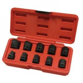 4分專業氣動短套筒10件組 四分10件短氣動套筒組 公制六角氣動套組 四分氣動六角套筒組 短套筒