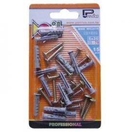 DIY用尼龙钉套木螺丝组 尼龙栓套木螺丝组 塑料塞子木螺丝组 塑料壁虎木螺丝组