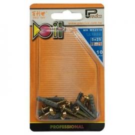 DIY用尼龍釘套木螺絲組 尼龍栓套木螺絲組 塑膠塞子木螺絲組 塑膠壁虎木螺絲組