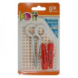 DIY用塑膠塞子洋眼釘組 尼龍釘套眼型螺絲組 尼龍栓套自旋脹眼釘組 塑膠壁虎魚眼螺絲組